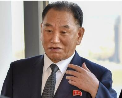 Kim Yong-chol, the envoy of North Korean20190425123705_l